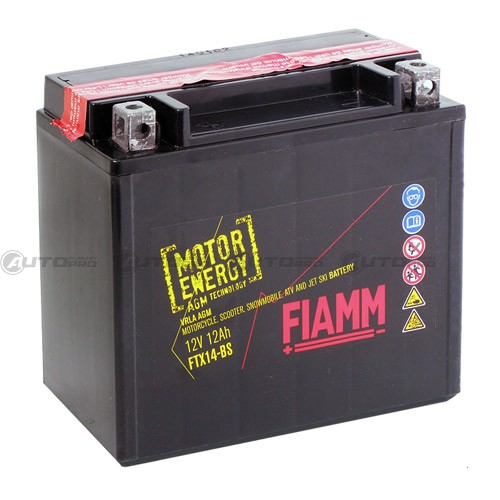 batteria moto fiamm ftx14 bs motor energy 12 ah 12 volt. Black Bedroom Furniture Sets. Home Design Ideas
