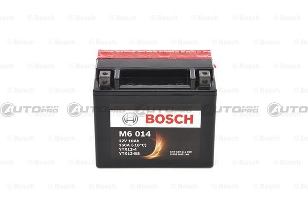 Bosch M6014 Batterie moto YTX12-BS 12V AGM 10A//h-150A