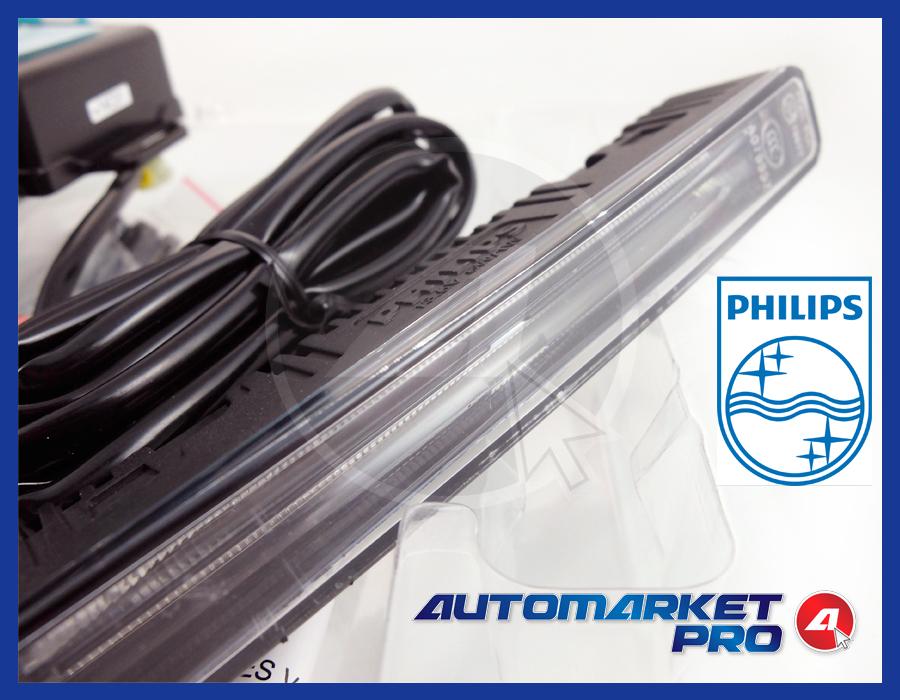 KIT 2 LUCI LED DIURNE AUTO PHILIPS DAYLIGHT GUIDE ORIGINALI OMOLOGATE FARI DLR