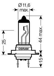 STOCK 10 LAMPADINE OSRAM H7 12 V 55 W 64210 LAMPADINA ALOGENA ANABBAGLIANTE FARI