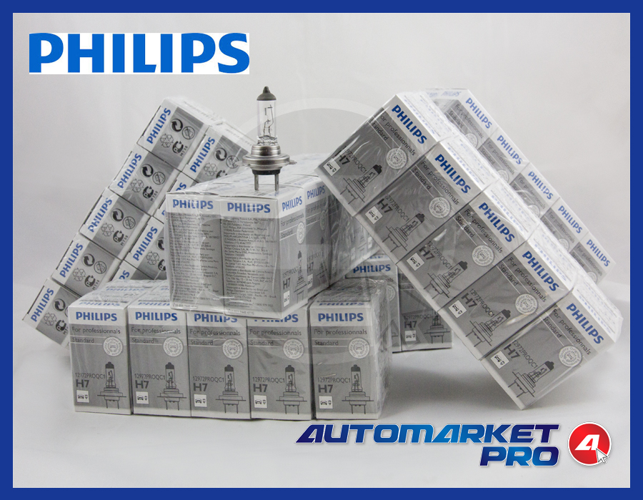10 PEZZI LAMPADINE PHILIPS H7 12 V 55 W ANABAGLIANTE FARI AUTO MOTO LAMPADA