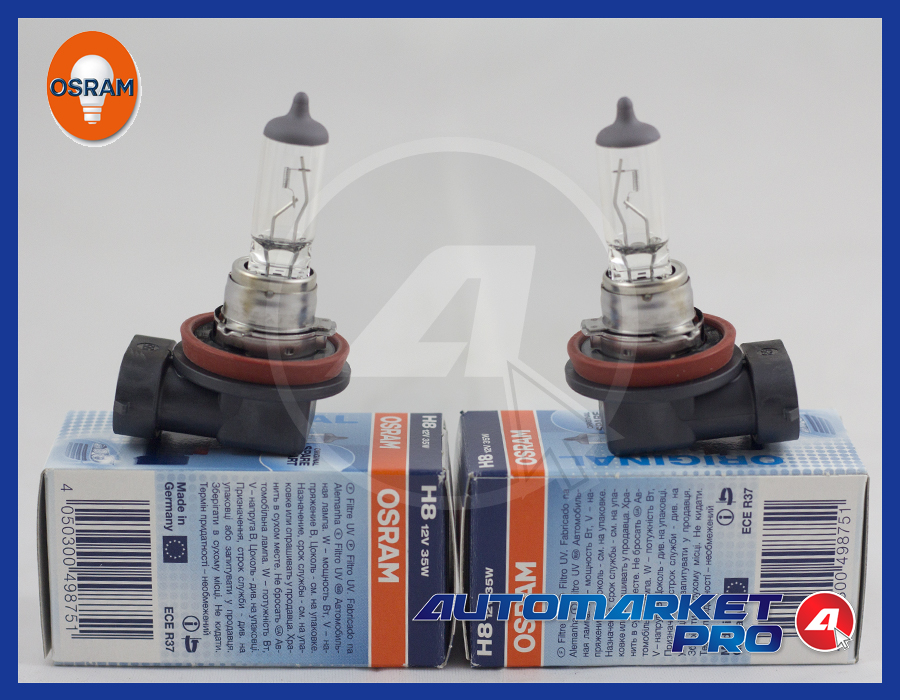 2 LAMPADINE OSRAM H8 PROIETTORI 12 V VOLTS 35 WATT ORIGINAL LINE 64212 FARI LUCI