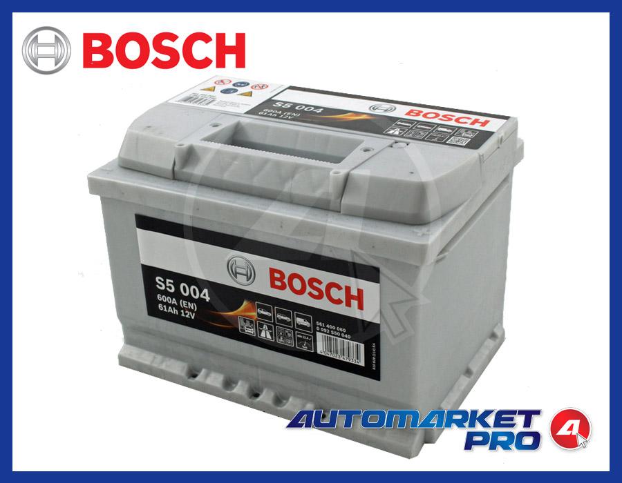 BATTERIA PER AUTO BOSCH S5 61 AH AMPERE 600 EN 12 VOLT SILVER S5 040 0092S50040