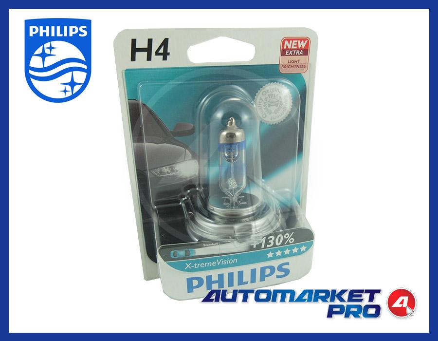 1 LAMPADINA H4 PHILIPS 12V VOLT 12342XV+B1 60/55W LAMPADA FARO ANTERIORE FANALE