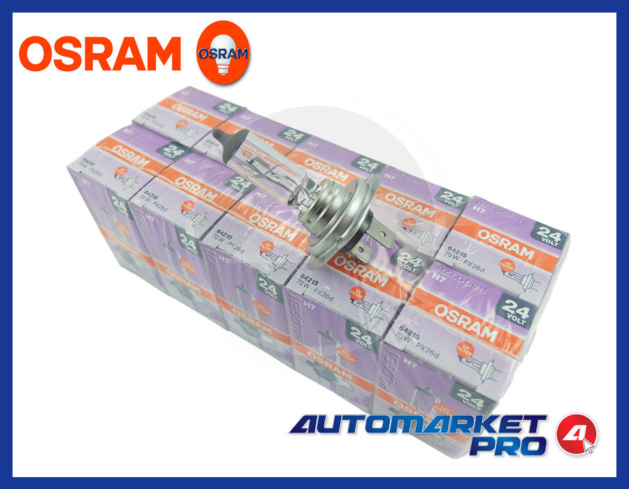 10 LAMPADINE H7 OSRAM 24 V VOLT 64215 70 W PX26d LAMPADE CAMION ANTERIORE FANALE