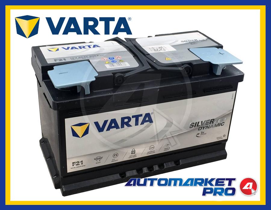 BATTERIA PER AUTO VARTA F21 AGM 80AH 800A 12V START&STOP 580901080 315x175x190