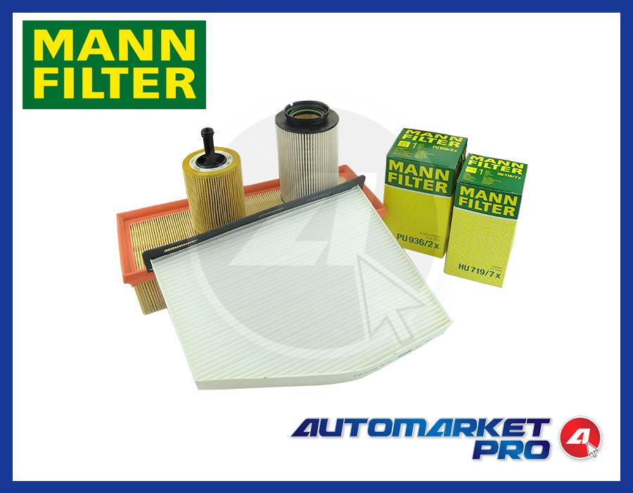 Kit 4 filtri tagliando mann micronair vw golf 5 v 1 9 for Filtro aria cabina da golf vw
