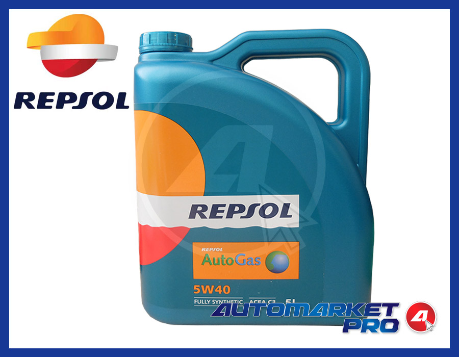 REPSOL AUTOGAS OLIO 5W40 ALTERNATIVA SELENIA GAS MULTIPOWER MOTORI GPL E METANO