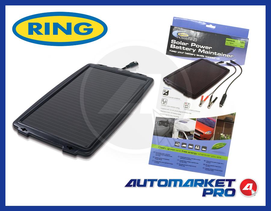 Pannello Solare Per Batteria Auto : Pannello solare w mantenitore carica batteria camper