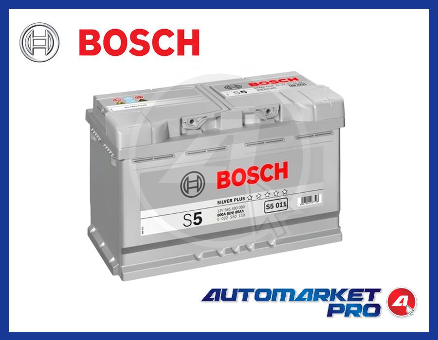 BATTERIA PER AUTO BOSCH S5 85 AH AMPERE 800 EN 12 VOLT SILVER S5 011 0092S50110